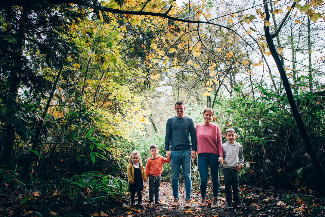 Somerset Outdoor Family Photo Mum Dad and Children image