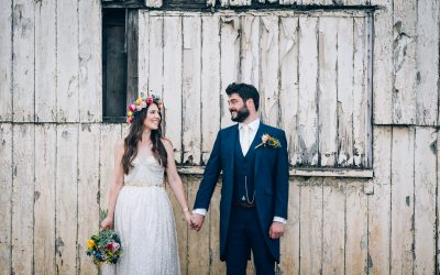 Jenny & James Colourful Village Hall Wedding Previews