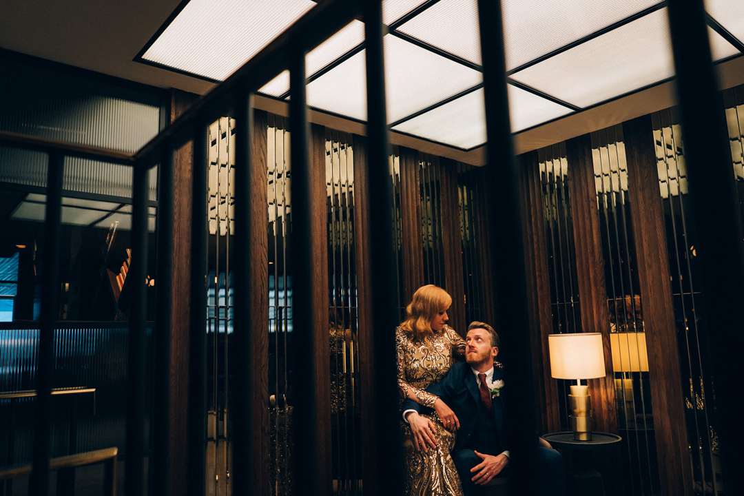 weddings at number six marylebone bride and groom portrait inside image