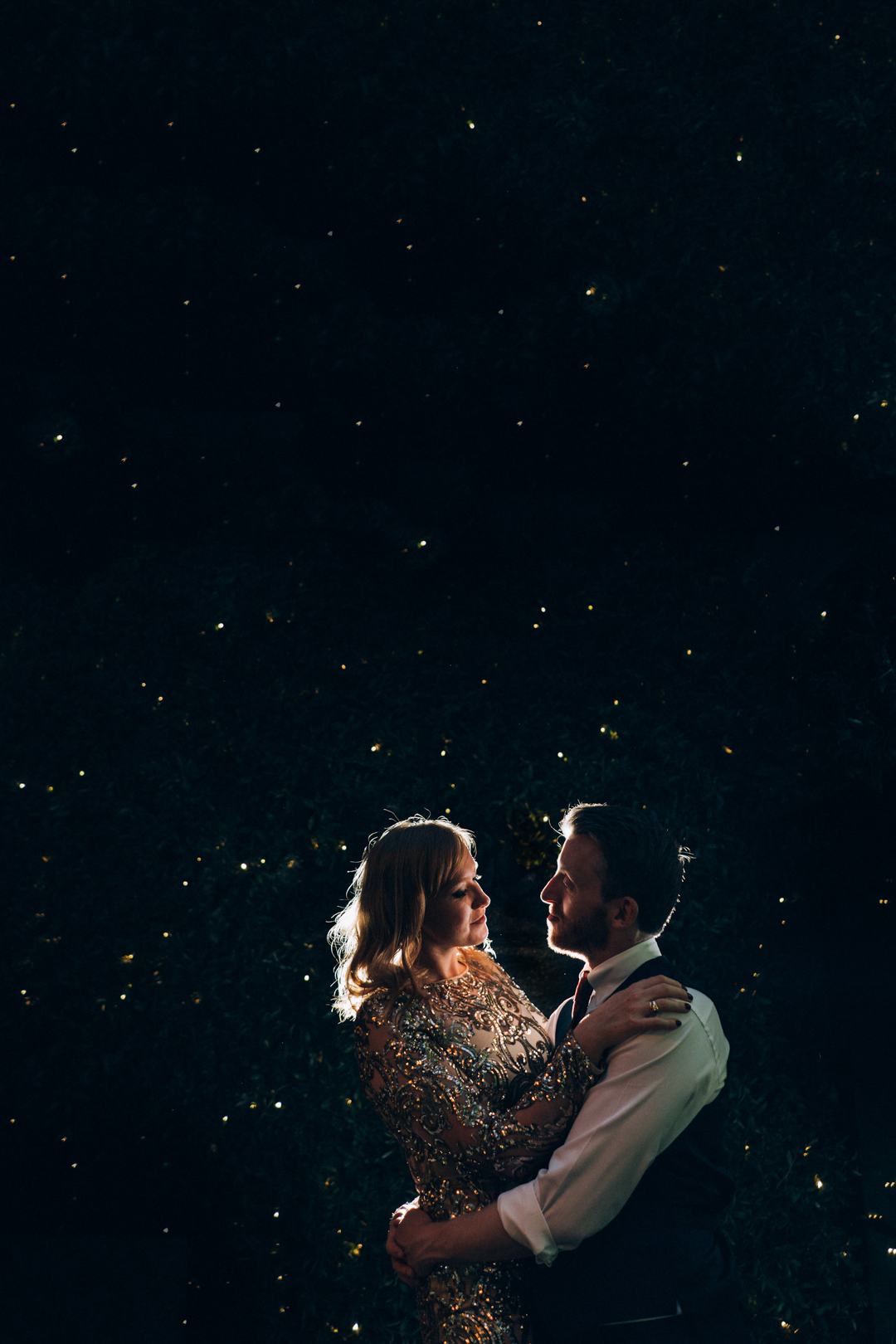 weddings at number six marylebone bride and groom at night image