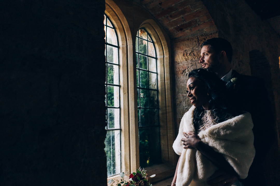 brympton house bride and groom portrait image