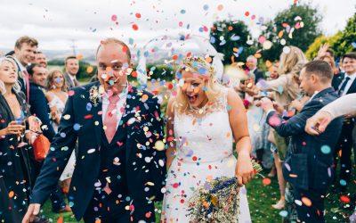 Carolyne & Stu's laid back garden wedding in Somerset