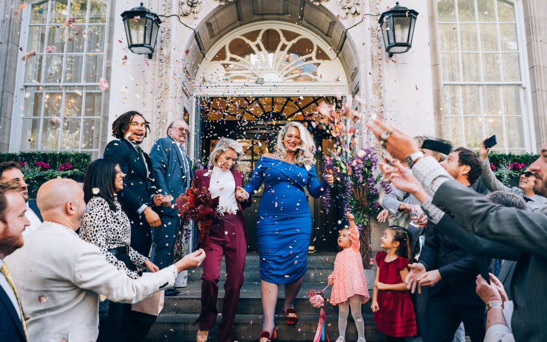 Nina & Saskia's Colourful London Wedding