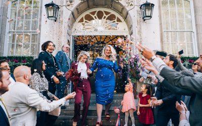 Nina & Saskia's Colourful London Wedding Previews