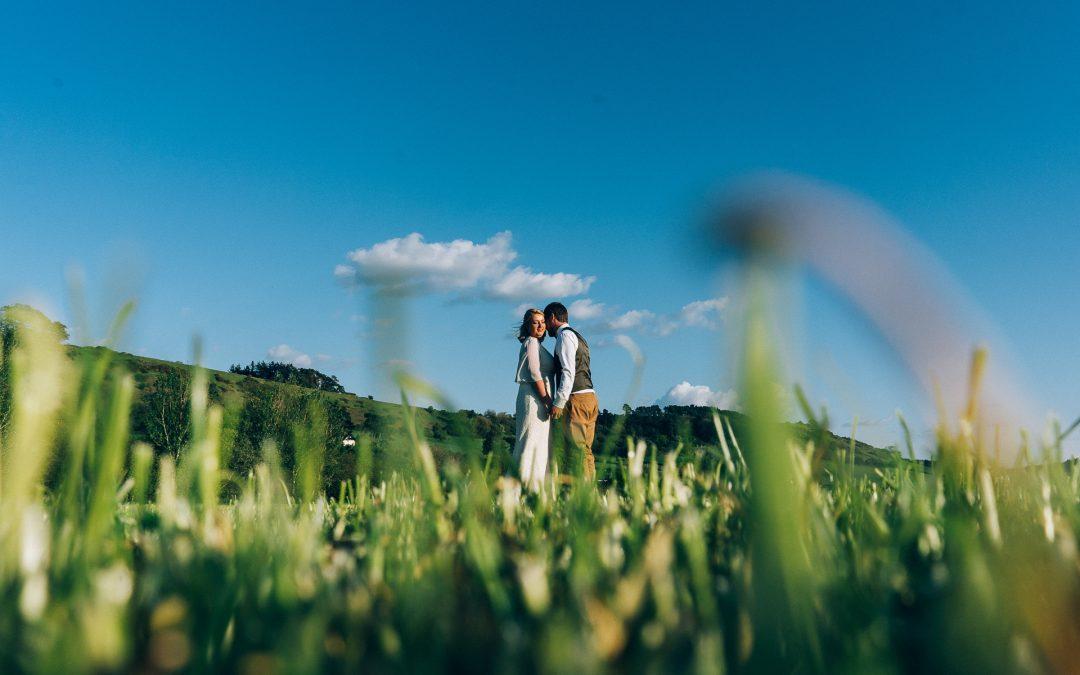 Fun, laid back farm wedding of Jenny & Jon in Somerset