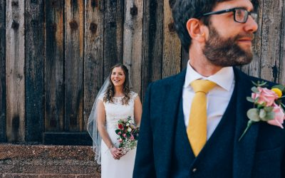 Festival Themed Outdoor Devon Wedding of Bryony & Steve at The Corn Barn