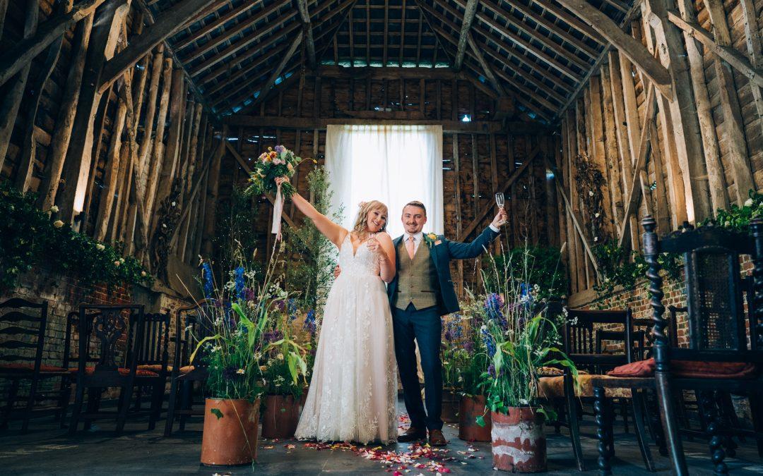 Ashlee & Paul's Michelmersh Farm Wedding Previews